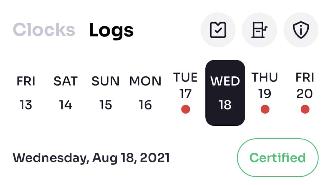 Certified log entry
